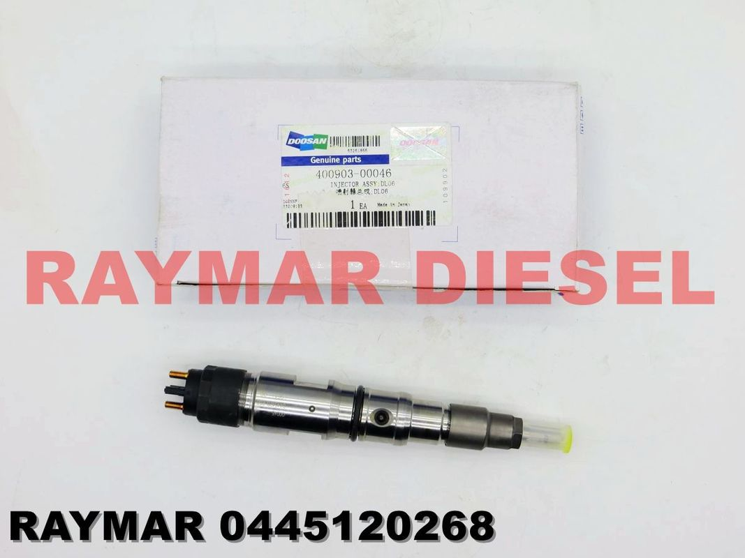 BOSCH Genuine common rail fuel injector 0445120268 for DOOSAN DL06S 400903-00046